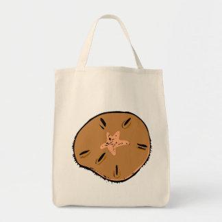Brown Sand Dollar Canvas Bags