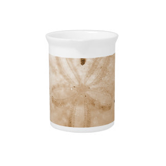 Brown Sand Dollar Beverage Pitcher