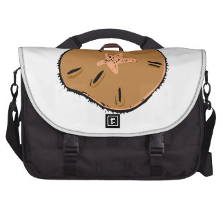 Brown Sand Dollar Laptop Computer Bag