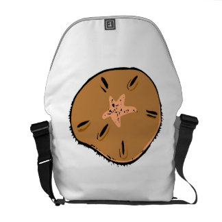 Brown Sand Dollar Courier Bag