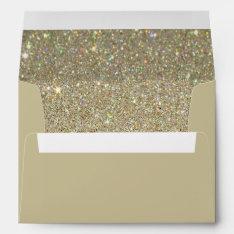 Brown Sand Envelope, Gold Glitter Lined Envelope at Zazzle