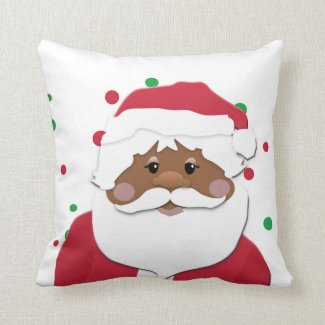 Brown Santa Decorative Christmas Pillow