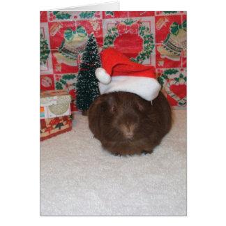 Brown Santa Pig Card