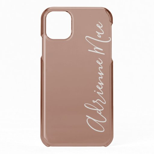 Brown Satin Personalized iPhone 11 Case