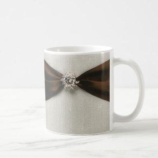 Brown Satin Ribbon with Jewel Classic White Coffee Mug