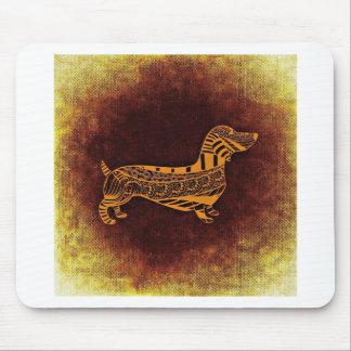 Brown sausage dog graphic mouse pad