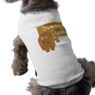 Brown Save the Planet Doggie T-shirt