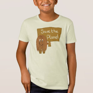 Brown Save the Planet T-Shirt