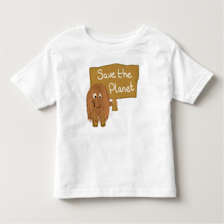 Brown Save the Planet Toddler T-shirt