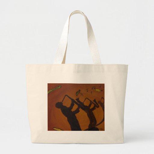 Brown Saxiphone Art Jazz Bag