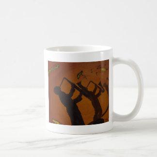 Brown Saxiphone Art Jazz Coffee Mug