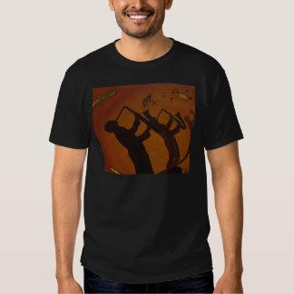 Brown Saxiphone Art Jazz T-shirt