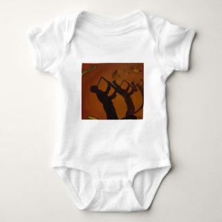 Brown Saxiphone Art Jazz Tee Shirt