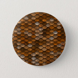 Brown scales pattern button