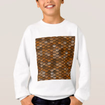 Brown scales pattern sweatshirt