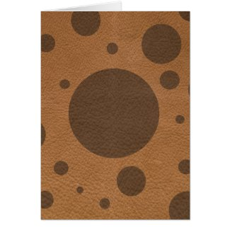 Brown Scattered Spots on Tan Leather Texture Card