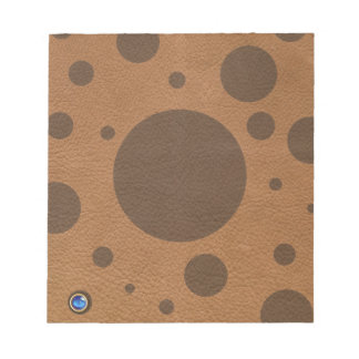 Brown Scattered Spots on Tan Leather Texture Notepad