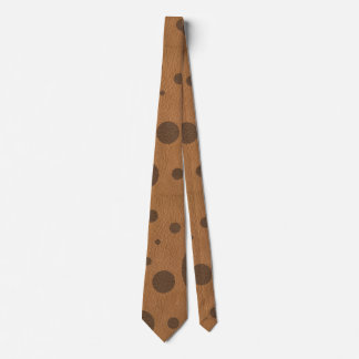 Brown Scattered Spots on Tan Leather Texture Tie