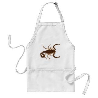 Brown Scorpion Adult Apron