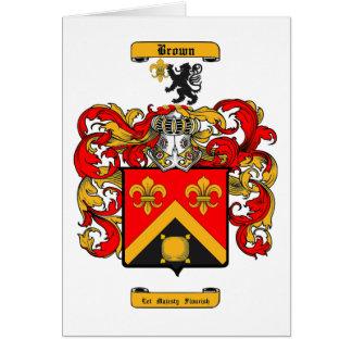 Brown (Scottish) Card
