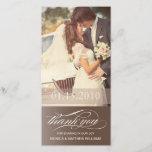 "BROWN SCRIPT THANKS   WEDDING THANK YOU CARD<br><div class=""desc""></div>"