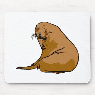 Brown Sea Lion Mousepads