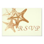 brown seastar RSVP Card