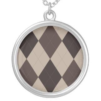 Brown Shades Argyle Necklace