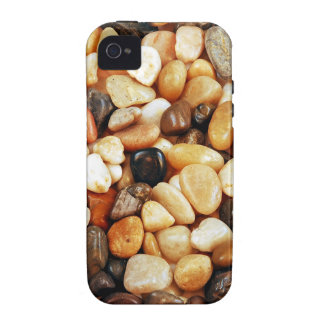 Brown shiny beach pebbles print Case-Mate iPhone 4 cases