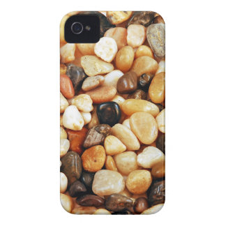 Brown shiny beach pebbles print iPhone 4 covers