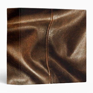 Brown Shiny Faux Leather 3 Ring Binder