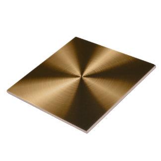Brown Shiny Metallic Design Stainless Steel Look Tiles