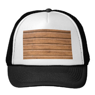 Brown siding that mimics the natural wood trucker hat