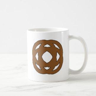 Brown Simple Circle Knot Coffee Mug