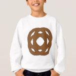 Brown Simple Circle Knot Sweatshirt
