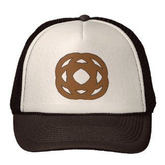 Brown Simple Circle Knot Trucker Hat