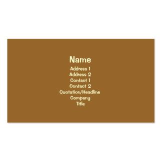 Brown simple tarjetas de visita