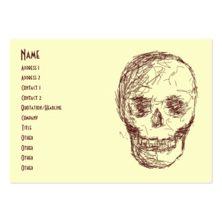 Brown Skull. Large Business Card