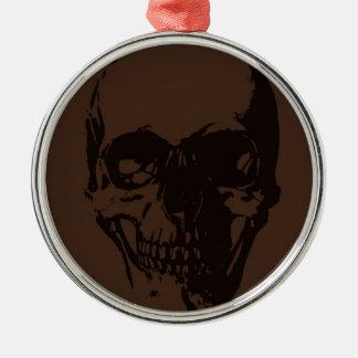 Brown Skull Metal Ornament