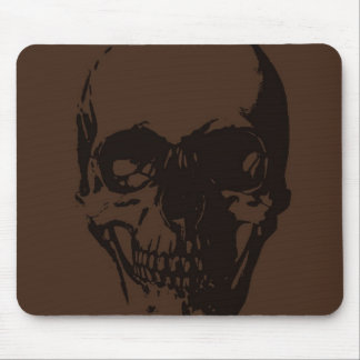 Brown Skull Mouse Pad