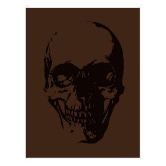 Brown Skull Post Cards