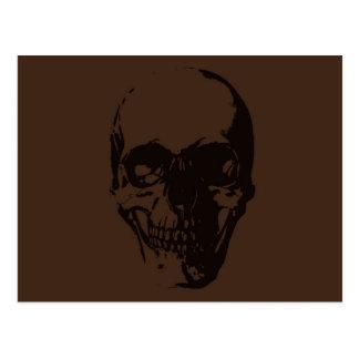 Brown Skull Postcard