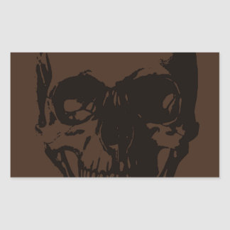 Brown Skull Stickers