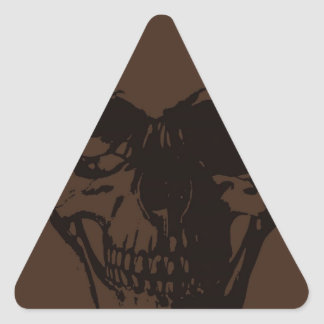 Brown Skull Triangle Sticker