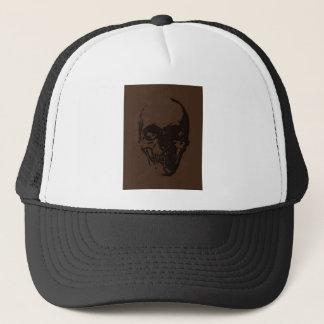 Brown Skull Trucker Hat