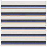 [ Thumbnail: Brown, Sky Blue, Midnight Blue, Black & Mint Cream Fabric ]