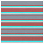 [ Thumbnail: Brown, Slate Gray, Light Grey & Aqua Colored Fabric ]