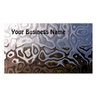 Brown, Slate, Silver  White Abstract Business Card