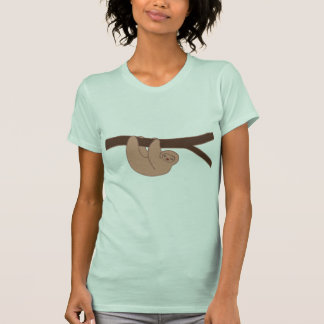 Brown Smiling Sloth with Heart Nose Shirt