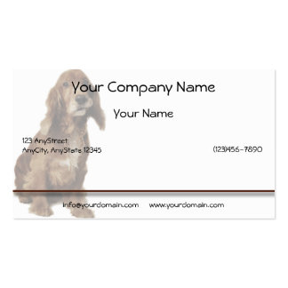 Brown Smiling, Smirking Dog Business Card